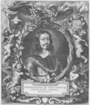 Portrait of Ferdinand III, Holy Roman Emperor, engraved by Pieter de Jode published by Philibert Bouttats, between 1647-1657, or 1691 Poster Art Print by Sir Anthony van Dyck