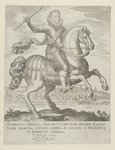 Ambrosio Spinola on Horseback before the Town of Oppenheim, after 1620 Poster Art Print by Michiel Jansz. van Mierevelt