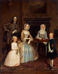 Mr and Mrs Richard Bull and family, 1730-80 Poster Art Print by Sir John Everett Millais