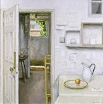 Open Doors with Still Life and Letter, 2004 Poster Art Print by Charles E. Hardaker