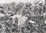 The Charge of the Hussars at Barrosa, 5th March 1811, illustration from 'British Battles on Land and Sea', published by Cassell, London, c.1910 Poster Art Print by Richard Caton Woodville