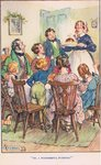 'Oh, what a wonderful pudding!', illustration from 'Modern Stories' Poster Art Print by Sir John Everett Millais