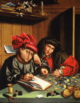 The Money Lenders Poster Art Print by Jan van Grevenbroeck