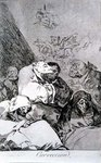 193-0082146 Correction, plate 46 of 'Los caprichos', 1799 Poster Art Print by Francisco Jose de Goya y Lucientes