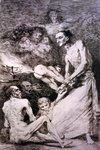 193-0082169 Blow, plate 69 of 'Los caprichos', 1799 Poster Art Print by Francisco Jose de Goya y Lucientes