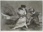 193-0082190 They don't like it, plate 9 of 'The Disasters of War', 1810-14, pub. 1863 Poster Art Print by Francisco Jose de Goya y Lucientes