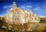 Fine Art Print of Women Fighting outside the Church of Santa Catarina, 2001 by James Reeve