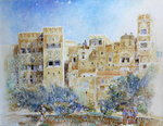Kitchen Garden, Sana'a, North Yemen, 1975 Poster Art Print by English School
