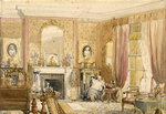 Drawing Room at Bryn Glas, Monmouthshire, 1871 Poster Art Print by Martin Decent