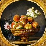 Still life with peaches Poster Art Print by Gerard van Spaendonck