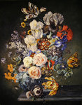 Still life with flowers Poster Art Print by Johann Baptist Drechsler