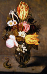 Still life with flowers, 1627 Poster Art Print by Jan Brueghel