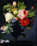 Still life with flowers Poster Art Print by Cornelis van Spaendonck