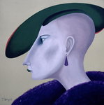 Fine Art Print of Women in Profile Series, No. 3, 1998 by John Wright