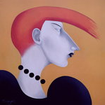 Fine Art Print of Women in Profile Series, No. 9, 1998 by John Wright