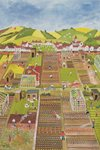 Allotments Poster Art Print by Anna Teasdale