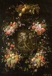 Garland of Fruit and Flowers with the Death of Adonis, 1652 Poster Art Print by Johann Baptist Drechsler
