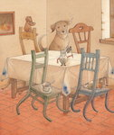 Chair Race, 2005 Poster Art Print by Kestutis Kasparavicius