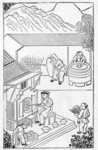 Opening and closing furnaces, from a series of illustrations on the manufacture of china Poster Art Print by Chinese School
