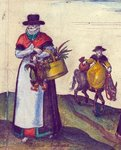 Country folk going to market, 1582 Poster Art Print by Joris Hoefnagel