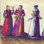 English women of the Elizabethan era, 1582 Poster Art Print by Joris Hoefnagel