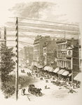 Clark Street, Chicago, in c.1870, from 'American Pictures' published by the Religious Tract Society, 1876 Poster Art Print by English School