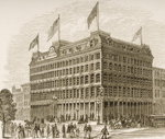 Public Ledger Building, Philadelphia, in c.1870, from 'American Pictures' published by the Religious Tract Society, 1876 Poster Art Print by English School