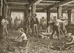 Silver Mining in Nevada, c.1870, from 'American Pictures', published by The Religious Tract Society, 1876 Poster Art Print by English School