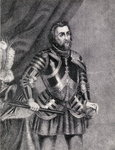 Hernan Cortes, Marques del valle de Oaxaca Poster Art Print by French School