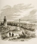 Sandy Hook New Jersey, seen from the lighthouse in the 1870s, c.1880 Poster Art Print by Reverend Samuel Manning