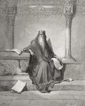 Solomon, illustration from Dore's 'The Holy Bible', 1866 Poster Art Print by Roger Payne