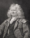 Fine Art Print of Thomas Coram, engraved by J.W. Cook by William Hogarth