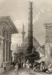 The Tchernberle Tash, Constantinople, Istanbul, Turkey, engraved by J. Carter Poster Art Print by William Henry Bartlett