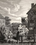 Times of the Day: Evening, from 'The Works of William Hogarth', published 1833 Poster Art Print by Walter Greaves