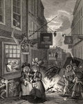 Times of the Day: Night, from 'The Works of William Hogarth', published 1833 Poster Art Print by William Hogarth