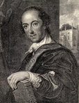 Horace Walpole, illustration from 'Memoirs of Eminent Etonians', by Sir Edward Creasy published London 1876