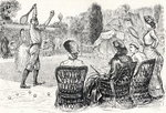 Lawn Tennis in 1883, engraved from the original drawing in Punch Magazine, from 'The Century Illustrated Monthly Magazine', May to October, 1883 Poster Art Print by English Photographer