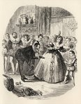 The Housewarming, from 'The Ingoldsby Legends' by Thomas Ingoldsby, published by Richard Bentley & Son, 1887 Poster Art Print by George Cruikshank