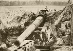 An American 14 inch canon in position on the Western Front, from 'L'Illustration', 1918 Poster Art Print by English Photographer