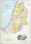 Canaan as it was divided between the twelve tribes of Israel Poster Art Print by Guillaume Delisle