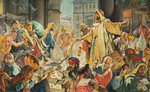 Jesus Removing the Money Lenders from the Temple Poster Art Print by James Jacques Joseph Tissot