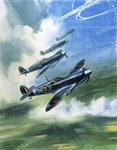 The Supermarine Spitfire Mark IX Poster Art Print by Muggeridge