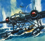 Flying Boat Poster Art Print by Wilf Hardy