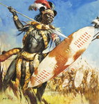 Zulu Warrior Poster Art Print by Angus McBride