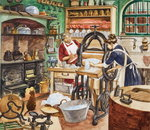 Nineteenth Century Kitchen Poster Art Print by Lili Cartwright