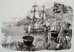 Arrival in Western Australia on 21st January 1827 Poster Art Print by Cantonese School