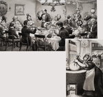 Victorian Dining Table Poster Art Print by Charles Giraud