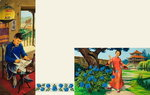 Two Scenes of Chinese Life in a Noble Family Poster Art Print by Carmontelle