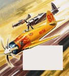 Three 'hot rod' racers from Aerobatic competitions Poster Art Print by Gerry Wood