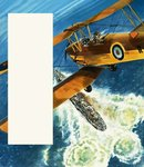 A Tiger Moth patrolling the British coast during World War II Poster Art Print by Gerry Wood